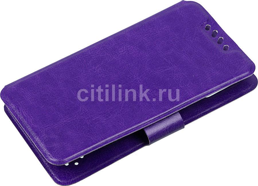 """Чехол (флип-кейс) REDLINE iBox Universal, для универсальный 5-6"""", фиолетовый [ут000010107]"""