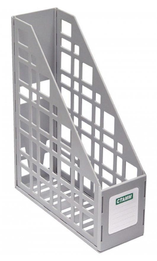 Лоток вертикальный Стамм ЛТ11 сборный 85х250х295мм серый пластик