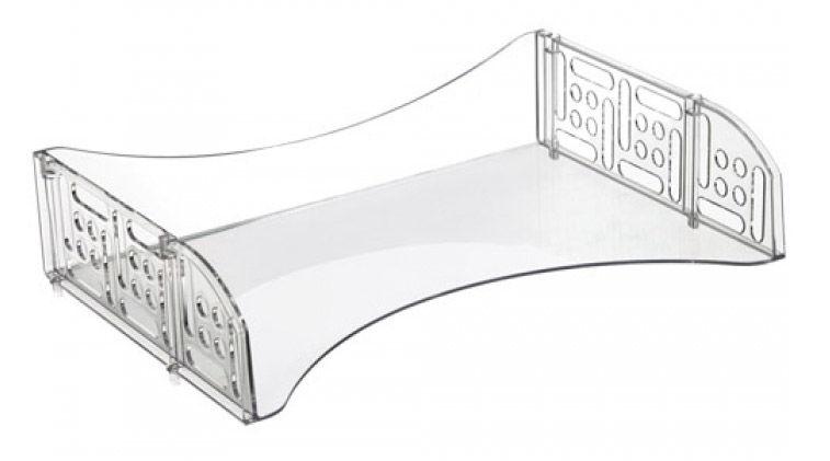 Лоток горизонтальный Стамм ЛТ802 Филд 335х230х80мм прозрачный пластик