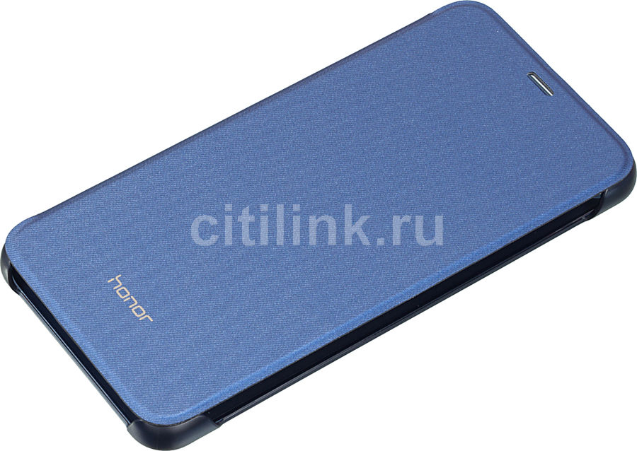 Чехол (флип-кейс) HONOR PU Case, для Huawei Honor 9 Lite, синий [51992426]