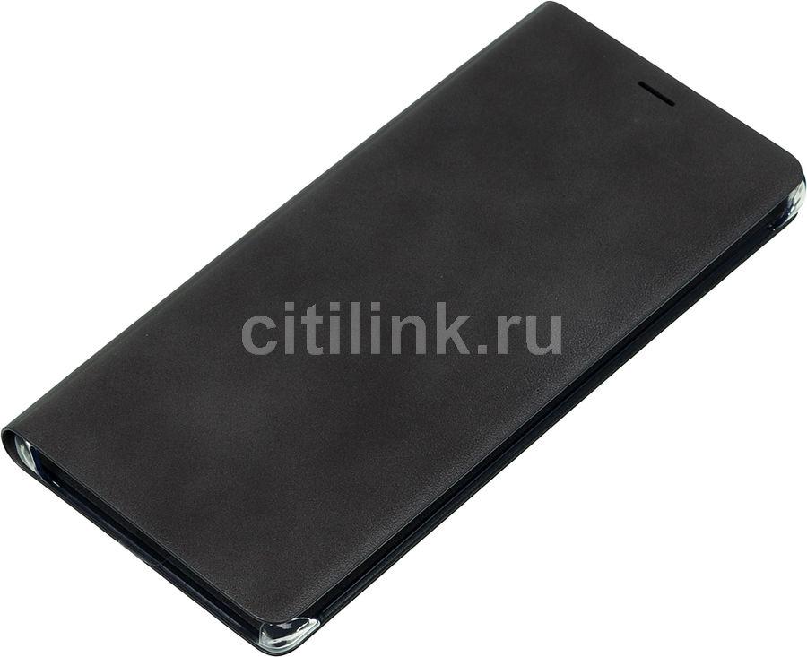 Чехол (флип-кейс) SAMSUNG Leather Wallet Cover, для Samsung Galaxy Note 9, черный [ef-wn960lbegru]