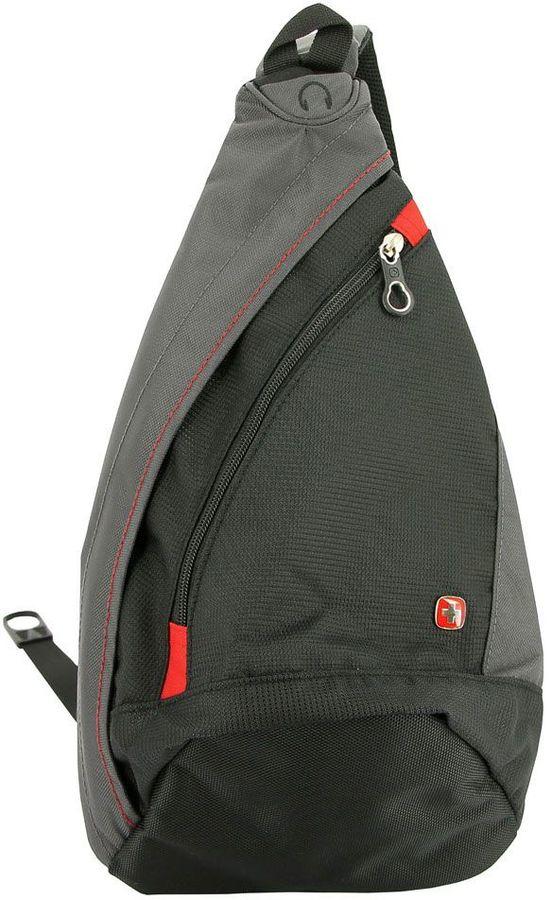 Рюкзак Wenger черный/серый 1092230 25x15x45см 7л.