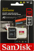 Карта памяти microSDXC UHS-I U3 SANDISK Extreme 256 ГБ, 160 МБ/с, Class 10, SDSQXA1-256G-GN6MA,  1 шт., переходник SD вид 1