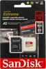Карта памяти microSDXC UHS-I U3 SANDISK Extreme 400 ГБ, 160 МБ/с, Class 10, SDSQXA1-400G-GN6MA,  1 шт., переходник SD вид 1