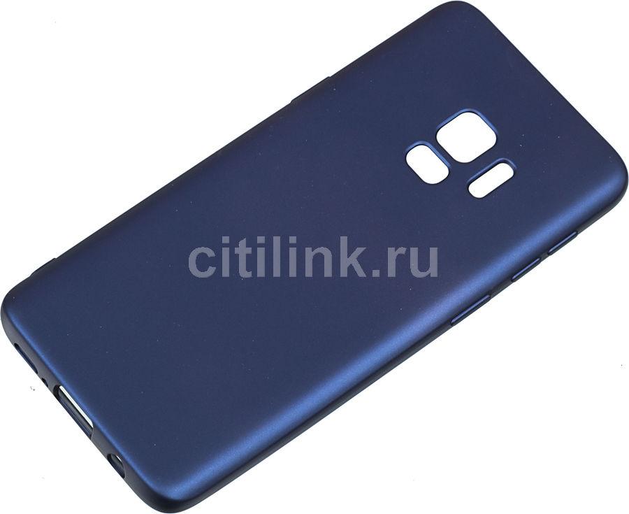 Чехол (клип-кейс) DEPPA Case Silk, для Samsung Galaxy S9, синий [89002]