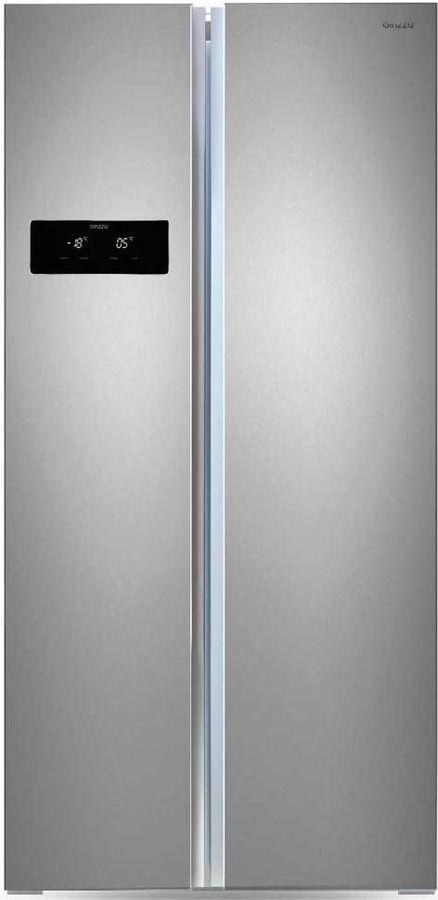 Холодильник GINZZU NFK-465,  двухкамерный, нержавеющая сталь