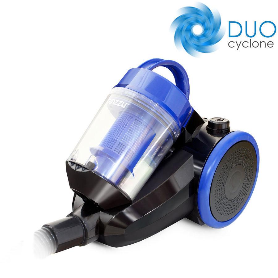 Пылесос GINZZU VS422, 1600Вт, черный/синий
