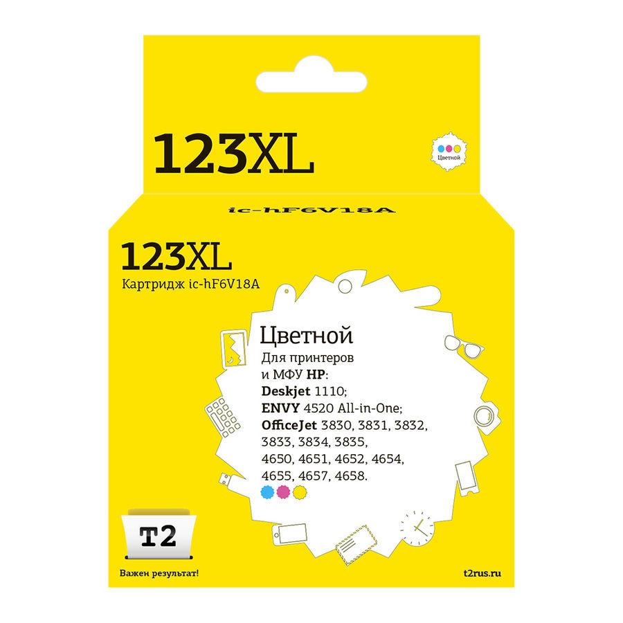 Картридж T2 IC-HF6V18A многоцветный / голубой / пурпурный / желтый