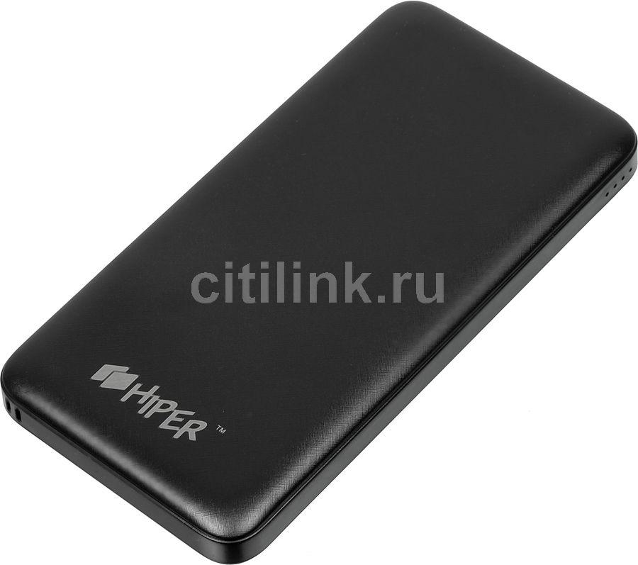 Внешний аккумулятор (Power Bank) HIPER ST10000,  10000мAч,  черный [st10000 black]