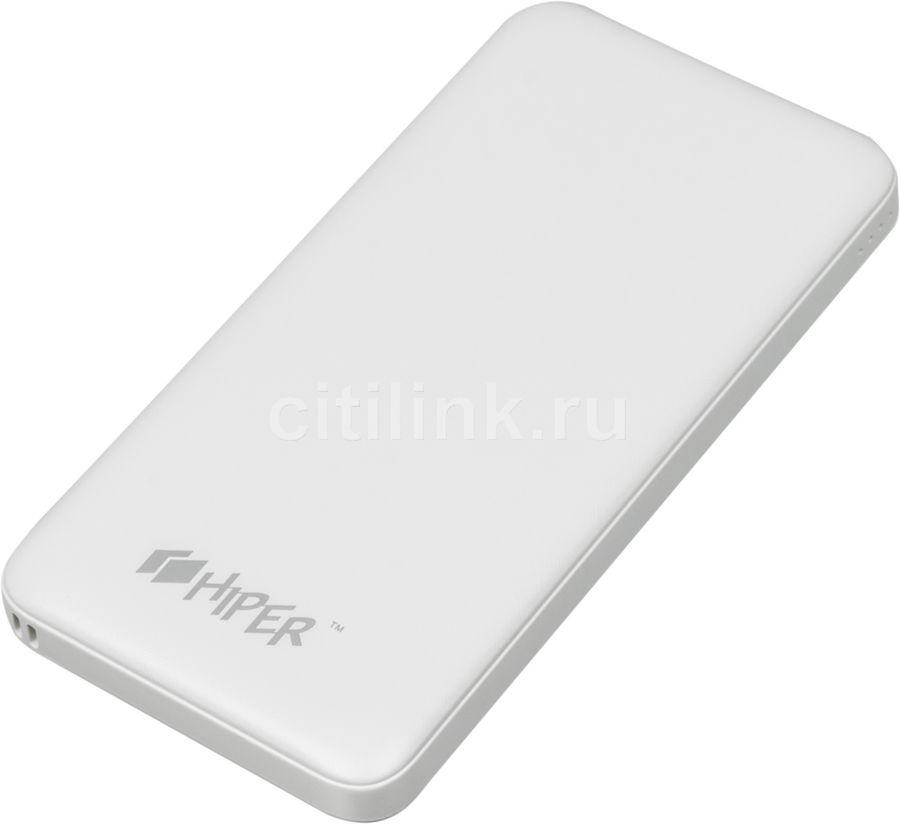 Внешний аккумулятор (Power Bank) HIPER ST10000,  10000мAч,  белый [st10000 white]
