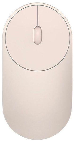 Мышь XIAOMI Mi Portable Mouse, оптическая, беспроводная, золотистый [hlk4008gl]