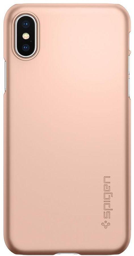 Чехол (клип-кейс)  Spigen Thin Fit, для Apple iPhone X, розовое золото [057cs22110]