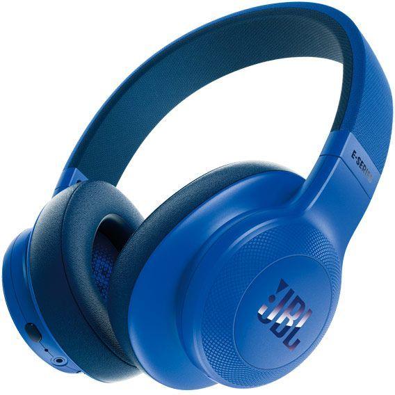 Наушники с микрофоном JBL E55BT Lifestyle, 3.5 мм/Bluetooth, мониторы, синий [jble55btblu]
