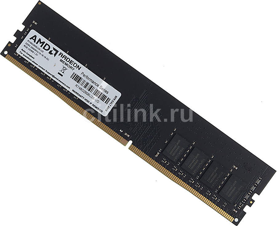 Модуль памяти AMD Radeon R7 Performance Series R748G2606U2S-UO DDR4 -  8Гб 2666, DIMM,  OEM