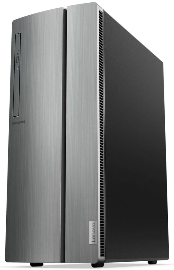Компьютер  LENOVO IdeaCentre 510-15ICB,  Intel  Core i3  8100,  DDR4 8Гб, 1000Гб,  AMD Radeon RX 560 - 4096 Мб,  DVD-RW,  CR,  Free DOS,  серебристый [90hu006brs]