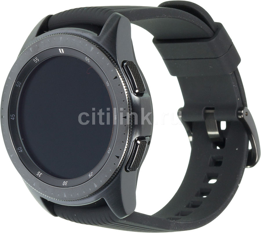 "Смарт-часы SAMSUNG Galaxy Watch 42мм,  1.2"",  черный / черный [sm-r810nzkaser]"