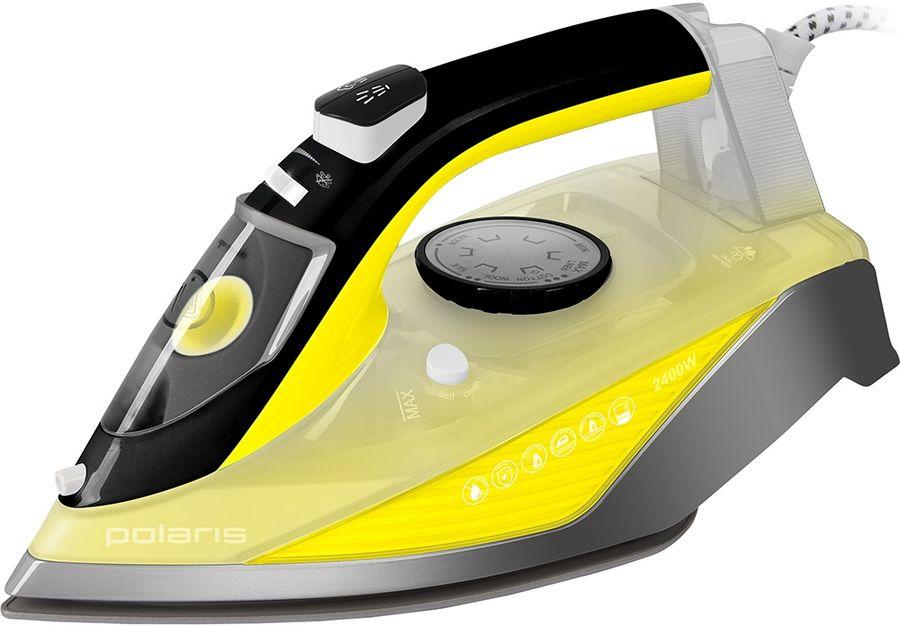 Утюг POLARIS PIR 2460АK,  2400Вт,  желтый/ серый