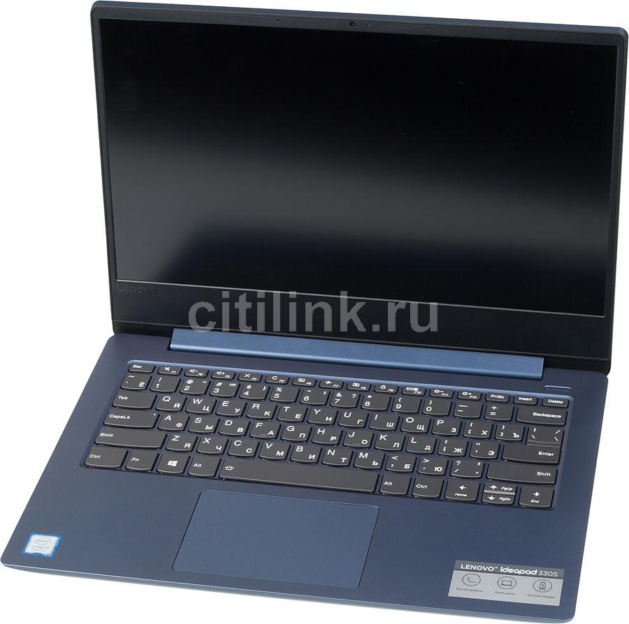 """Ноутбук LENOVO IdeaPad 330S-14IKB, 14"""",  IPS, Intel  Core i5  8250U 1.6ГГц, 8Гб, 1000Гб,  128Гб SSD,  Intel UHD Graphics  620, Free DOS, 81F4013KRU,  темно-синий"""