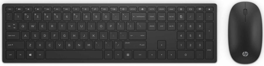 Комплект (клавиатура+мышь) HP 800, USB, беспроводной, черный [4ce99aa]