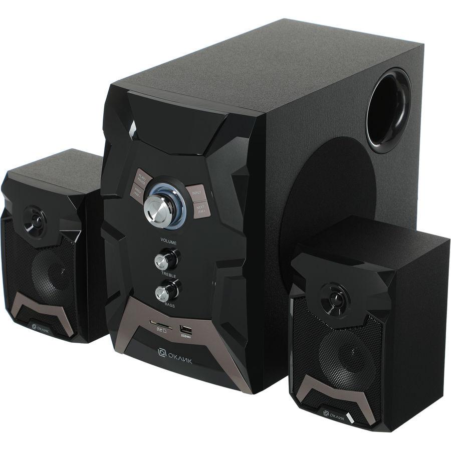 Колонки Bluetooth OKLICK OK-441,  2.1,  черный [2110b]