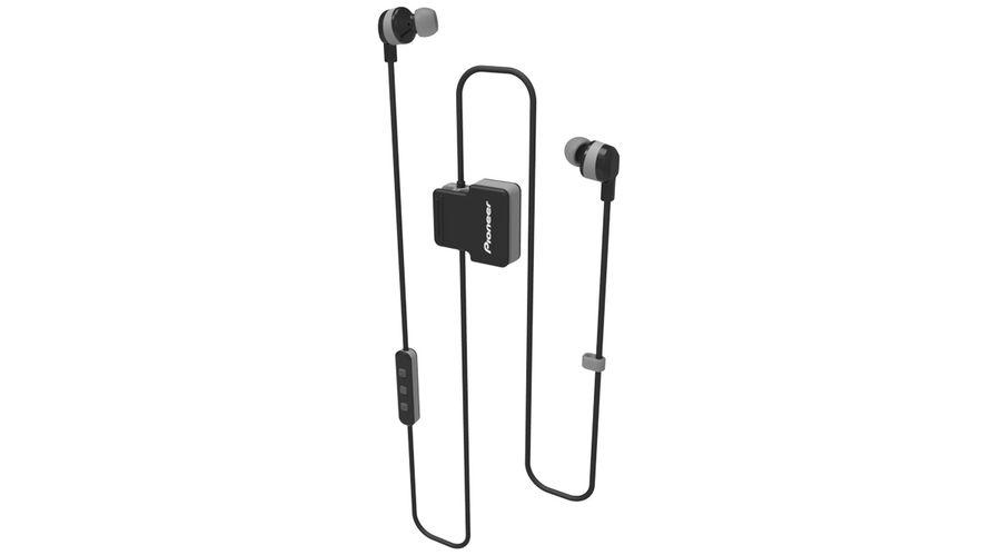 Наушники с микрофоном PIONEER SE-CL5BT-H, Bluetooth, вкладыши, серый