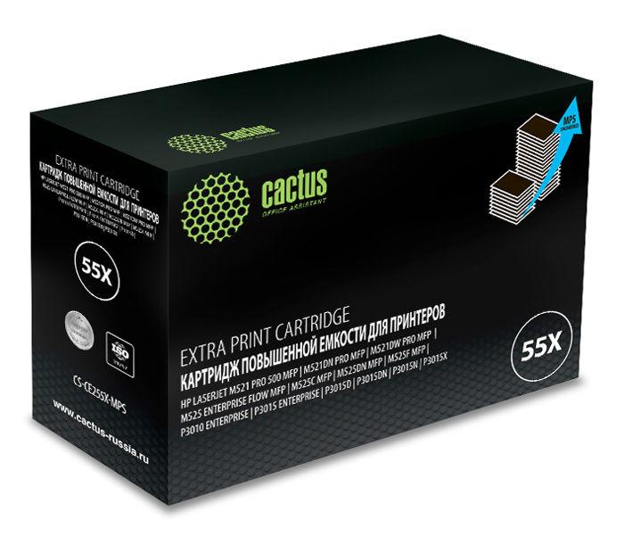 Картридж CACTUS CS-CE255X-MPS, черный