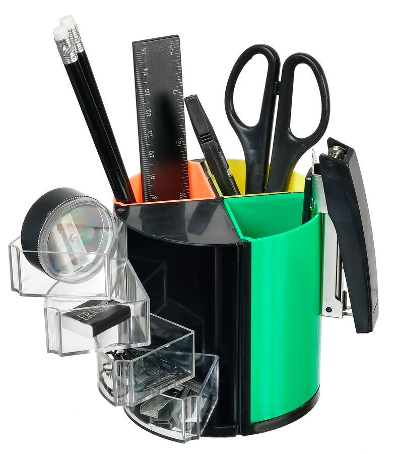 Настольный набор SILWERHOF пластик, 10 предметов, черный [172017-01]