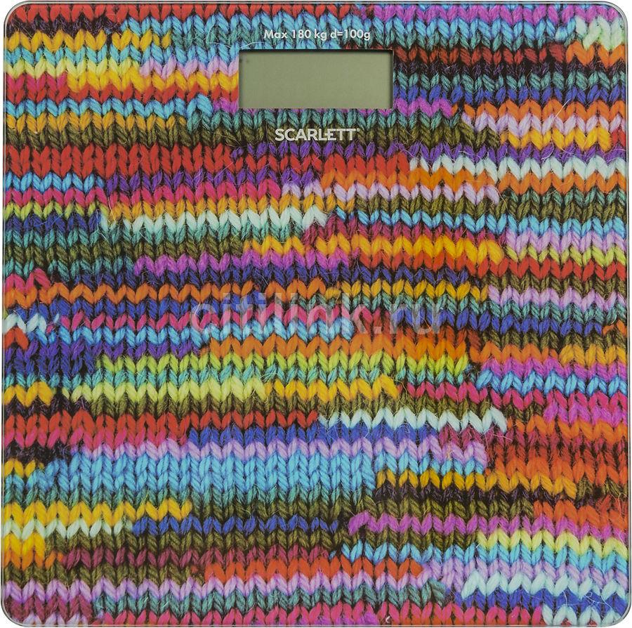Напольные весы SCARLETT SC-BS33E097, до 180кг, цвет: рисунок [sc - bs33e097]