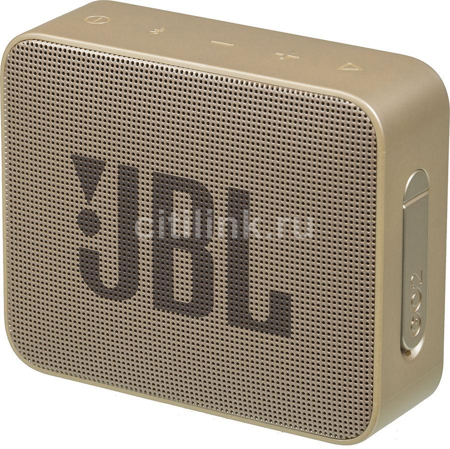 Портативная колонка JBL GO 2,  3Вт, золотистый  [jblgo2champagne]