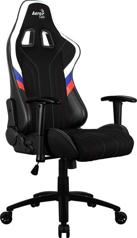 Кресло игровое AEROCOOL AERO 1 Alpha RUS, на колесиках, ткань дышащая, черный