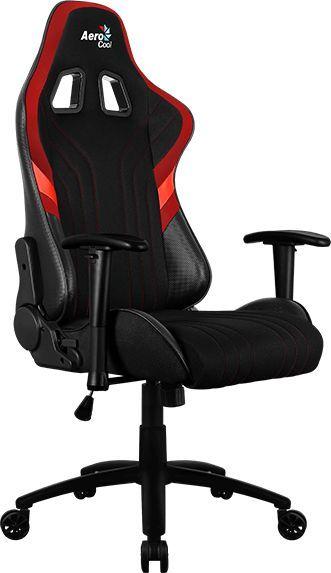 Кресло игровое AEROCOOL AERO 1 Alpha BR, на колесиках, ткань дышащая, черный/красный [acgc-2017101.r1]