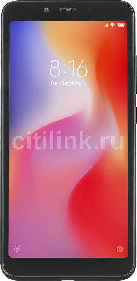 Смартфон XIAOMI Redmi 6A 16Gb,  черный