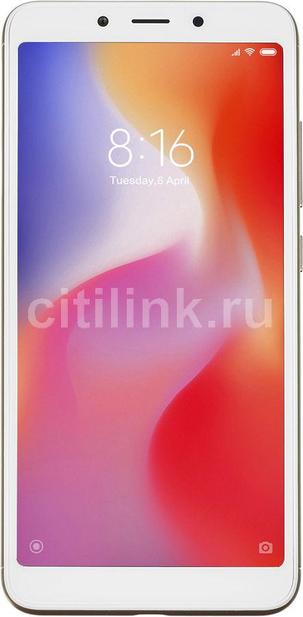 Смартфон XIAOMI Redmi 6A 16Gb,  золотистый