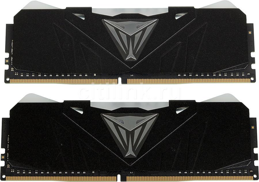 Модуль памяти PATRIOT Viper RGB PVR416G320C6K DDR4 -  2x 8Гб 3200, DIMM,  Ret