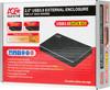 Внешний корпус для  HDD/SSD AGESTAR 3UB2AX1C, черный вид 8