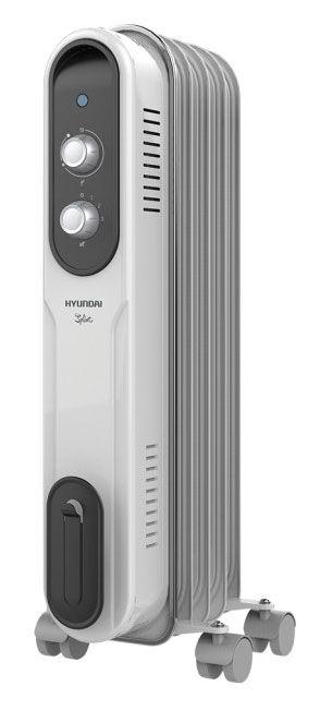 Масляный радиатор HYUNDAI H-HO-9-05-UI846, 1000Вт, белый