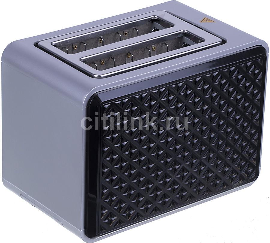 Тостер VITEK VT-7156,  серебристый/черный