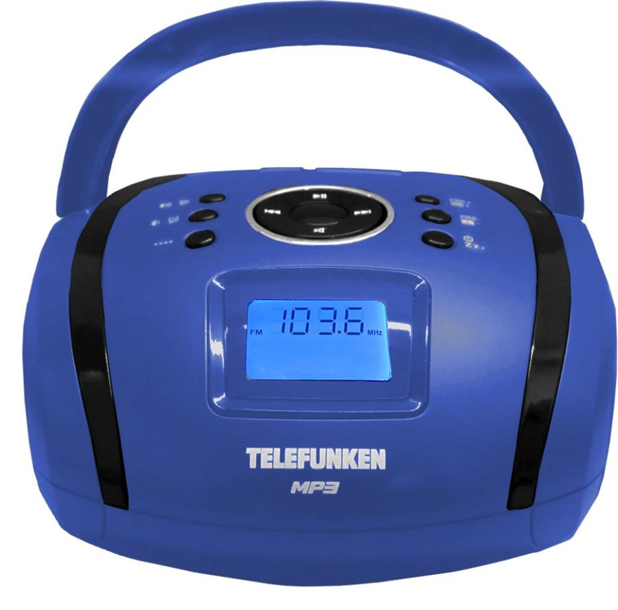Аудиомагнитола TELEFUNKEN TF-SRP3449,  синий