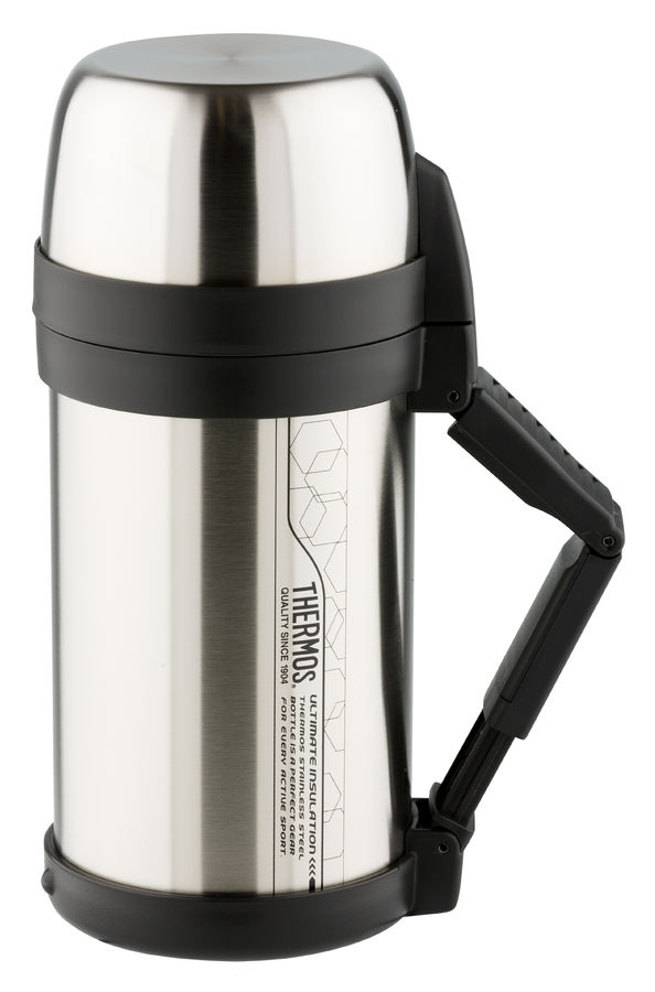 Термос THERMOS FDH Stainless Steel Vacuum Flask, 1.4л, стальной/ черный