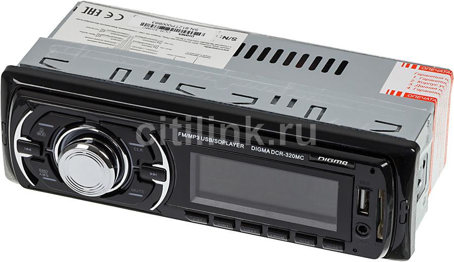 Автомагнитола DIGMA DCR-320MC,  USB,  SD/MMC