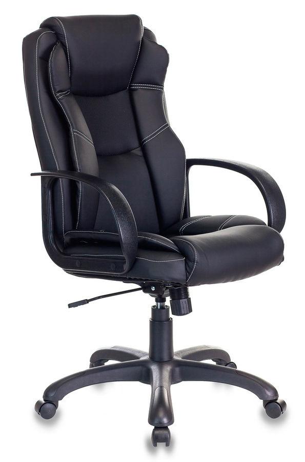 Кресло руководителя БЮРОКРАТ CH-839, на колесиках, искусственная кожа, черный [ch-839/black]