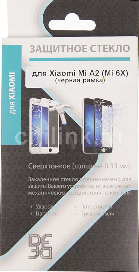 Защитное стекло для экрана DF xiColor-28  для Xiaomi Mi A2/6X,  1 шт, черный [df xicolor-28 (black)]