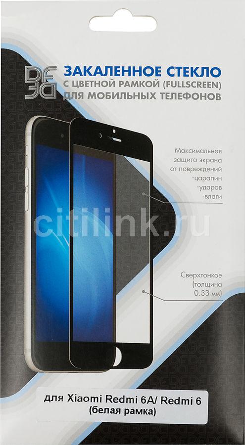 Защитное стекло для экрана DF xiColor-34  для Xiaomi Redmi 6/6A,  1 шт, белый [df xicolor-34 (white)]