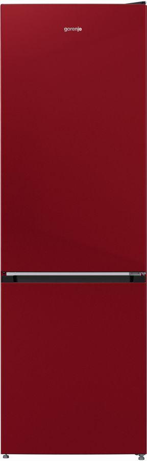 Холодильник GORENJE NRK6192CR4,  двухкамерный, бордовый