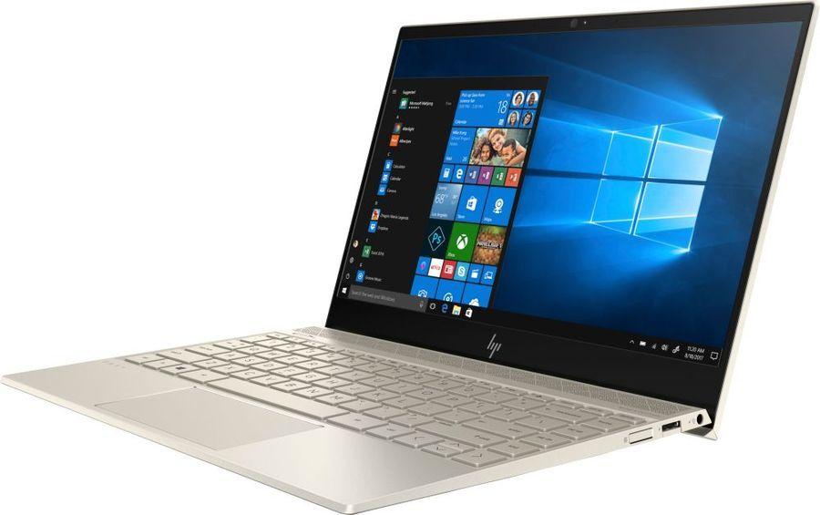 """Ноутбук HP Envy 13-ah1012ur, 13.3"""",  Intel  Core i7  8565U 1.8ГГц, 16Гб, 512Гб SSD,  nVidia GeForce  Mx150 - 2048 Мб, Windows 10, 5CV21EA,  золотистый"""