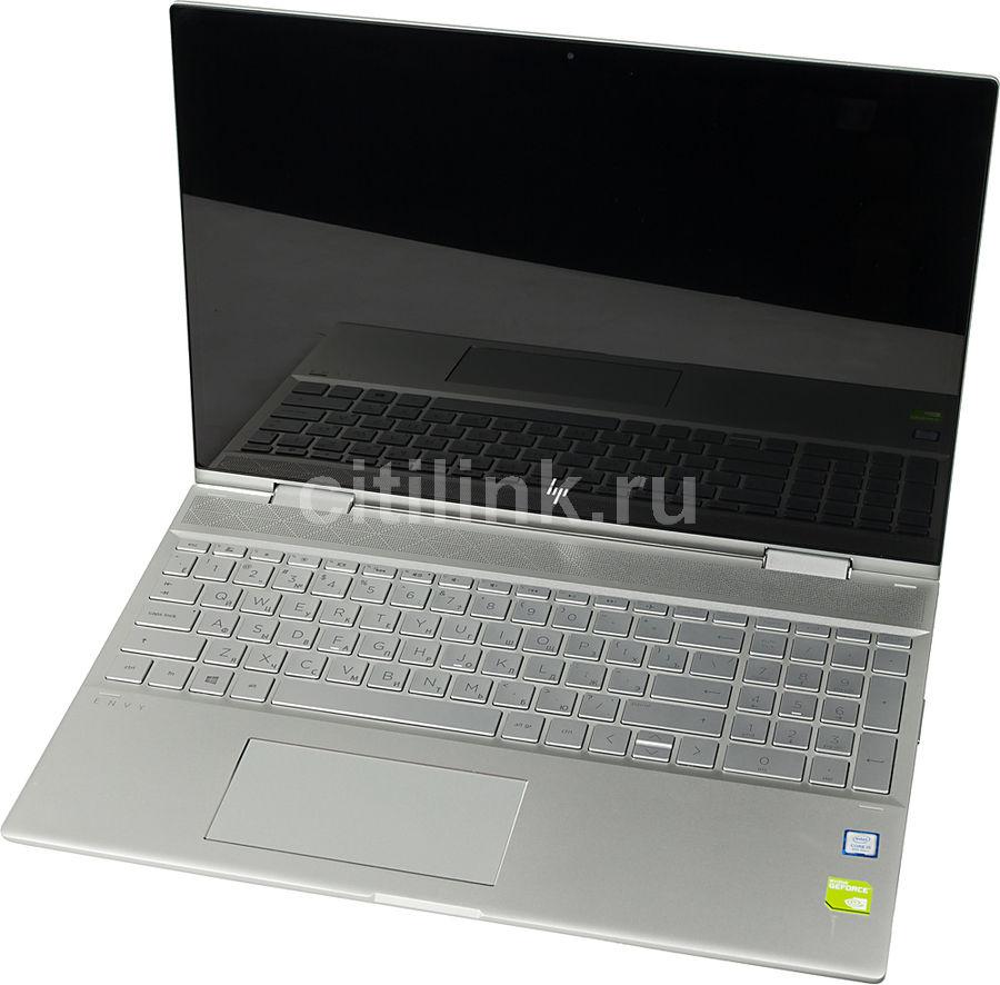 "Ноутбук-трансформер HP Envy x360 15-cn1004ur, 15.6"",  IPS, Intel  Core i5  8265U 1.6ГГц, 8Гб, 256Гб SSD,  nVidia GeForce  Mx150 - 4096 Мб, Windows 10, 5CR65EA,  серебристый"