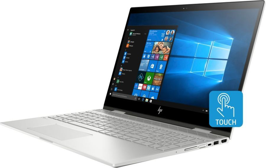 "Ноутбук-трансформер HP Envy x360 15-cn1001ur, 15.6"",  IPS, Intel  Core i7  8565U 1.8ГГц, 16Гб, 256Гб SSD,  nVidia GeForce  Mx150 - 4096 Мб, Windows 10, 5CR74EA,  серебристый"