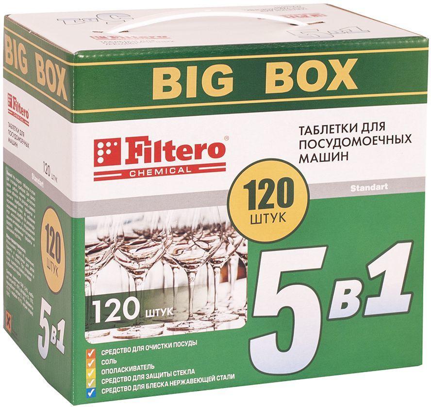 Таблетки 5в1 FILTERO Арт.773,  для посудомоечных машин,  120