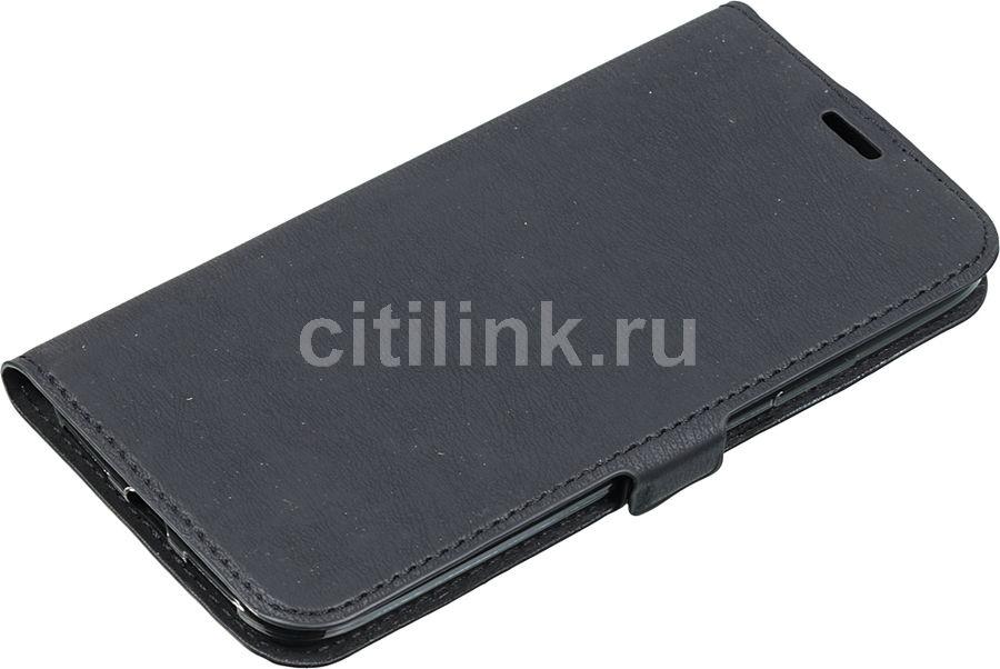 Чехол (флип-кейс) DF iFlip-02, для Apple iPhone X, черный