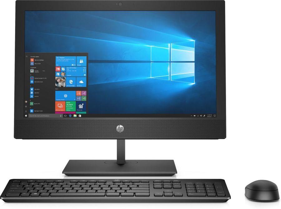 "Моноблок HP ProOne 400 G4, 20"", Intel Pentium Gold G5400T, 4Гб, 500Гб, Intel UHD Graphics 610, DVD-RW, Windows 10 Home, черный [5bl83es]"